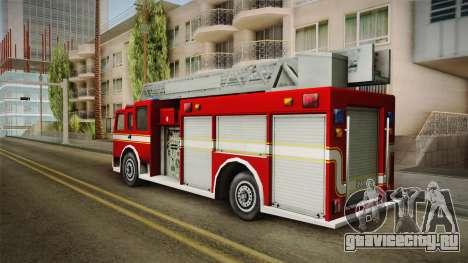 Driver: PL - Firetruck для GTA San Andreas вид слева