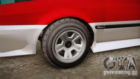 GTA 5 Dinka Blista Cabrio IVF для GTA San Andreas вид сзади