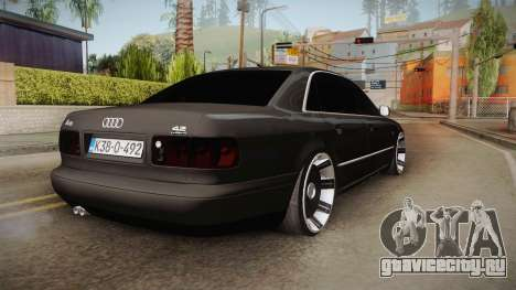 Audi A8 S8 D2 Lowstance для GTA San Andreas вид сзади слева