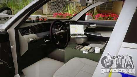 Chevrolet Impala Police Malaysia для GTA San Andreas вид справа
