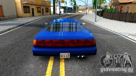 ZR-350 Update для GTA San Andreas вид сзади слева