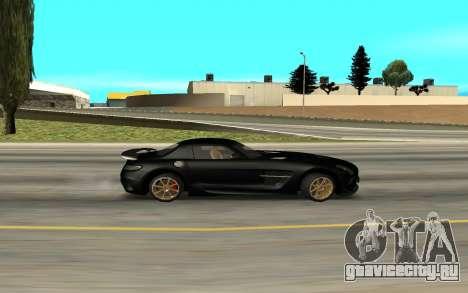 Mercedes-Benz SLS AMG для GTA San Andreas вид сзади слева