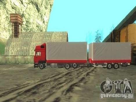Прицеп Chereau на MAN F2000 для GTA San Andreas вид слева