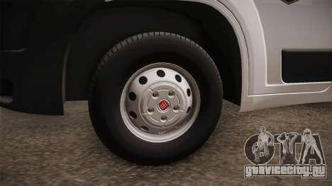 Fiat Ducato Police для GTA San Andreas вид сзади