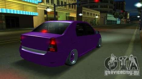 Renault Logan (Stance) для GTA San Andreas вид слева