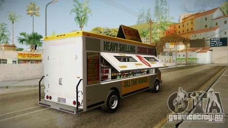 GTA 5 Brute Taco Van IVF для GTA San Andreas вид сзади слева