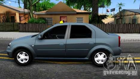 Renault Logan Taxi для GTA San Andreas вид слева