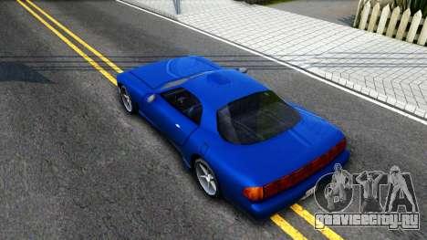 ZR-350 Update для GTA San Andreas вид сзади