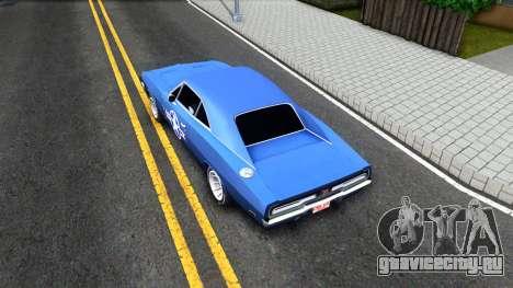 Dodge Charger 1969 для GTA San Andreas вид сзади