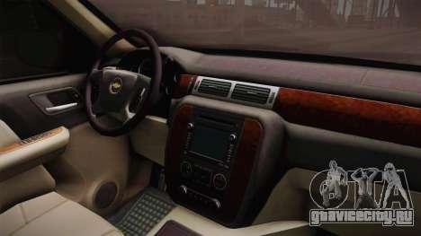 Chevrolet Tahoe для GTA San Andreas вид изнутри