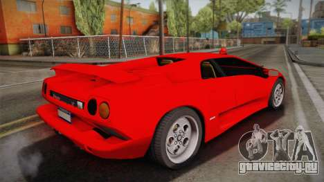 Lamborghini Diablo VT FBI 1995 для GTA San Andreas вид слева