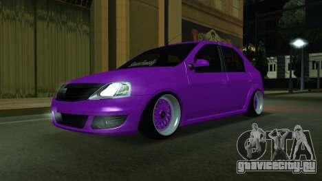 Renault Logan (Stance) для GTA San Andreas