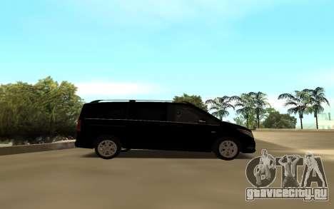 Mercedes-Benz V250 для GTA San Andreas вид слева