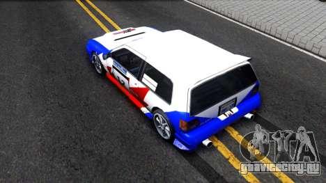 Flash Rally Paintjob для GTA San Andreas вид сзади