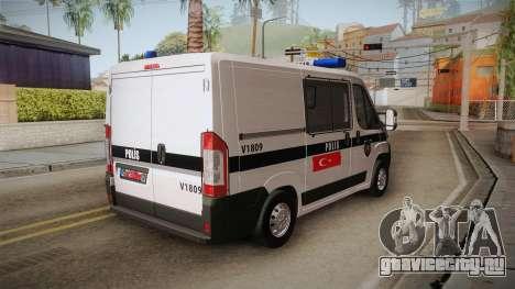 Fiat Ducato Police для GTA San Andreas вид слева