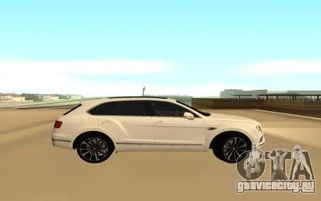 Bentley Bentyaga для GTA San Andreas вид слева