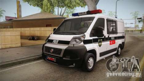 Fiat Ducato Police для GTA San Andreas вид справа