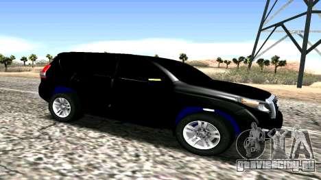 Toyota Land Cruiser Prado 150 2016 для GTA San Andreas вид слева