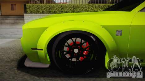 Dodge Challenger Hellcat Liberty Walk LB Perform для GTA San Andreas вид сзади слева