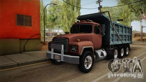 Mack RD690 Dumper Tri Axle 1992 v1.0 для GTA San Andreas