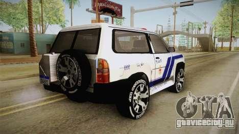 Nissan Patrol Y61 Police для GTA San Andreas вид слева