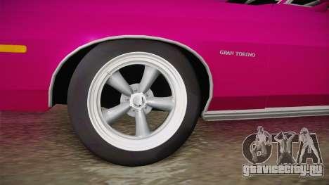 Ford Gran Torino 1975 Drag для GTA San Andreas вид сзади