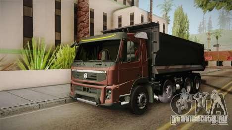 Volvo FMX Euro 5 8x4 Dumper Low для GTA San Andreas вид сзади слева