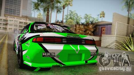 Nissan Silvia S14 Drift Speedhunters Saekano для GTA San Andreas вид сзади