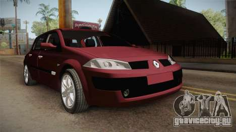 Renault Megane Hatchback v1.1 для GTA San Andreas вид справа