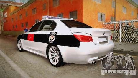 BMW M5 E60 Turkish Police для GTA San Andreas вид слева