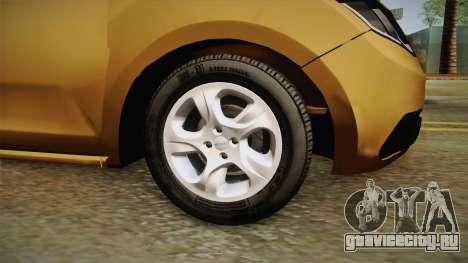 Renault Sandero 2017 для GTA San Andreas вид сзади