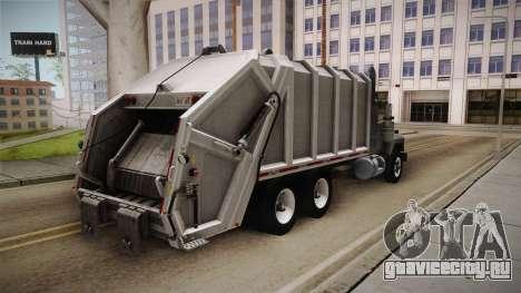 Mack RD690 Trash 1992 v1.0 для GTA San Andreas вид сзади слева