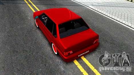 ВАЗ 2115 Retro Style для GTA San Andreas вид сзади