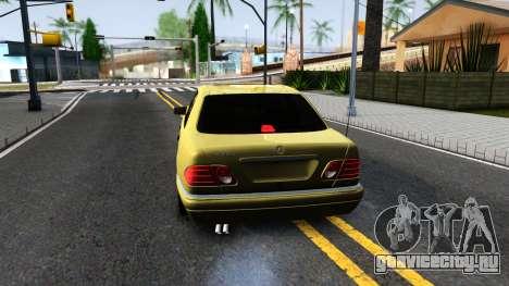 Mercedes-Benz E420 для GTA San Andreas вид сзади слева