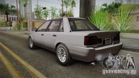 GTA 5 Vulcar Ingot Sedan IVF для GTA San Andreas вид слева
