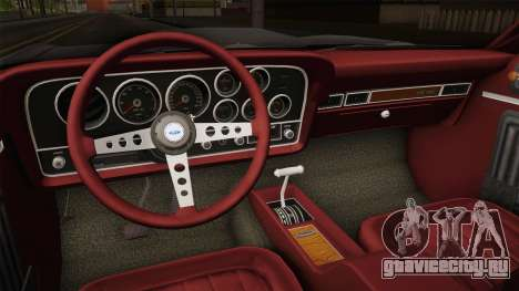 Ford Gran Torino 1972 для GTA San Andreas вид изнутри