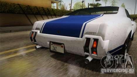 GTA 5 Declasse Sabre GT Painted Bumpers для GTA San Andreas вид сбоку