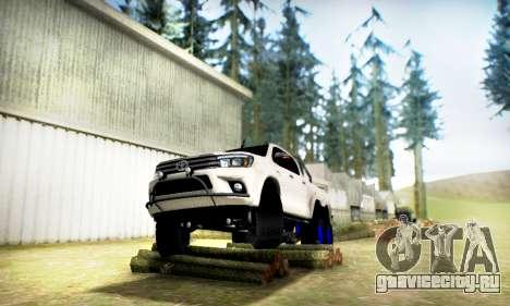 Toyota Hilux Arctic Trucks 6x6 для GTA San Andreas вид справа