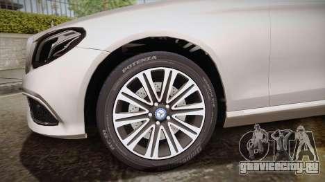 Mercedes-Benz E350e 2016 для GTA San Andreas вид сзади