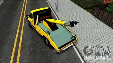 Fiat Ducato Evacuator для GTA San Andreas вид сзади