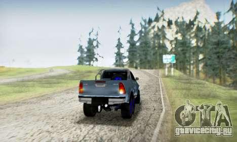 Toyota Hilux Arctic Trucks 6x6 для GTA San Andreas вид сверху