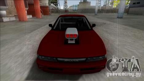 Nissan Silvia S13 Drag для GTA San Andreas вид сзади слева