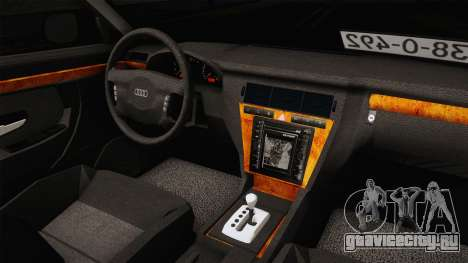Audi A8 S8 D2 Lowstance для GTA San Andreas вид изнутри
