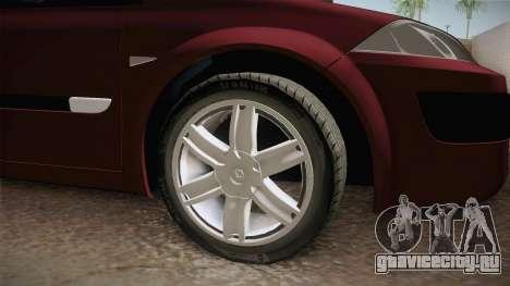 Renault Megane Hatchback v1.1 для GTA San Andreas вид сзади