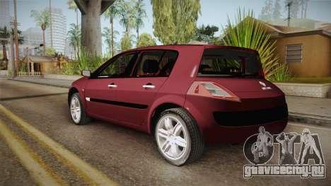 Renault Megane Hatchback v1.1 для GTA San Andreas вид слева