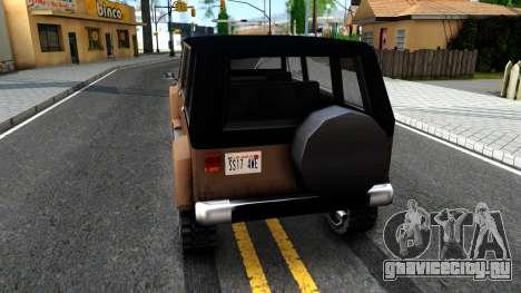 Mesa Crusader для GTA San Andreas вид сзади слева