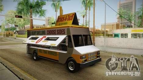 GTA 5 Brute Taco Van IVF для GTA San Andreas вид справа