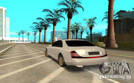 Maybach для GTA San Andreas вид сзади слева