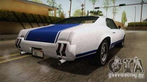 GTA 5 Declasse Sabre GT Painted Bumpers для GTA San Andreas вид справа