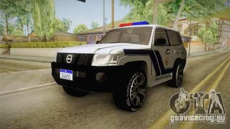 Nissan Patrol Y61 Police для GTA San Andreas вид справа